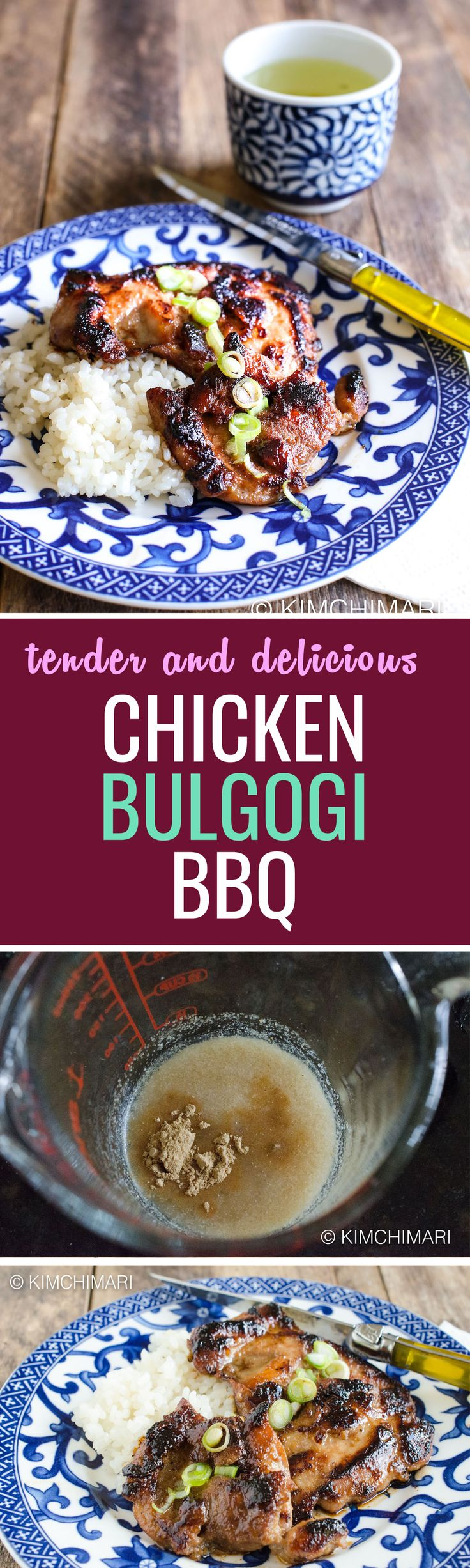 Although bulgogi is traditionally cooked with beef, this chicken bulgogi is an excellent alternative!