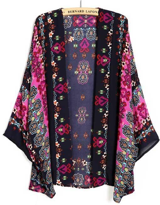 Must-have! Kimono Stil Etno din Voal Outliers