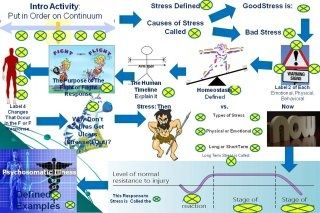 Infographic about stress via Thinglink.com