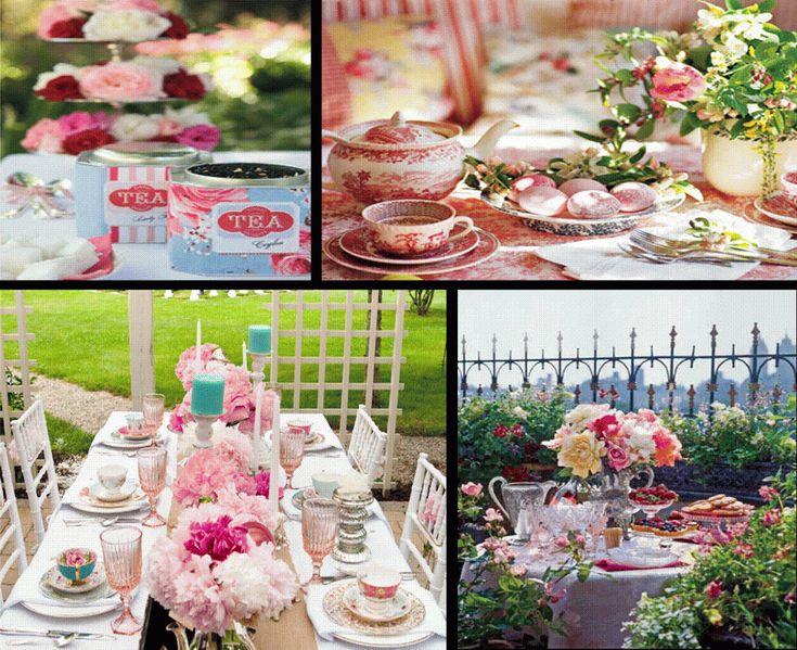 Colorful Garden English Tea Party Wedding Theme.