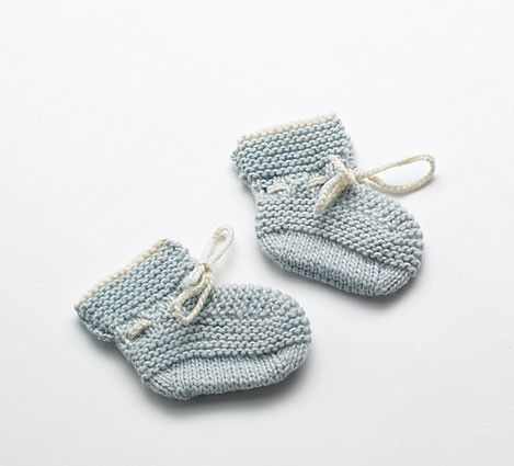 #Merino Baby Booties - Pale Blue | Flordemano