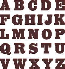 chocoladeletters alfabet - Google zoeken