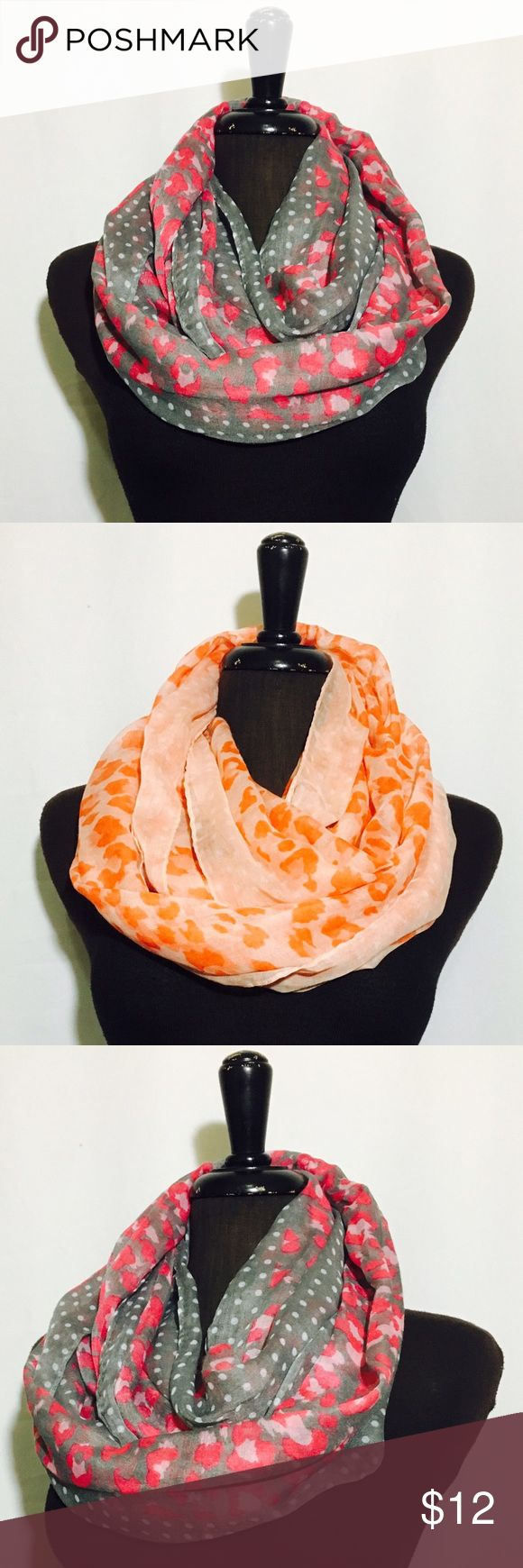 OBLONG PATTERN INFINITY SCARF 2x1 Take two scarfs for the price of one. 100%Viscose, imported, single pack in a OPP bag. Accessories Scarves & Wraps