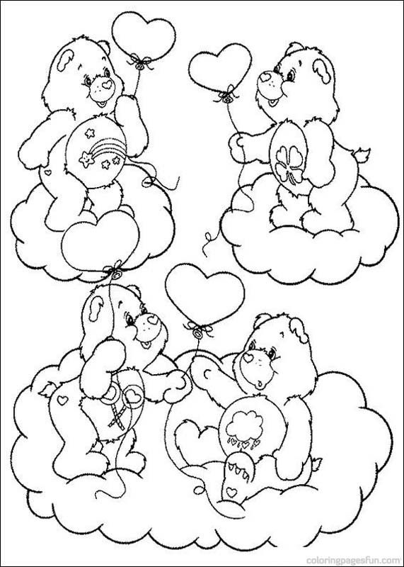 free carebear coloring pages - photo#22
