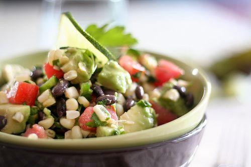 Raw Corn and Black Bean Salad