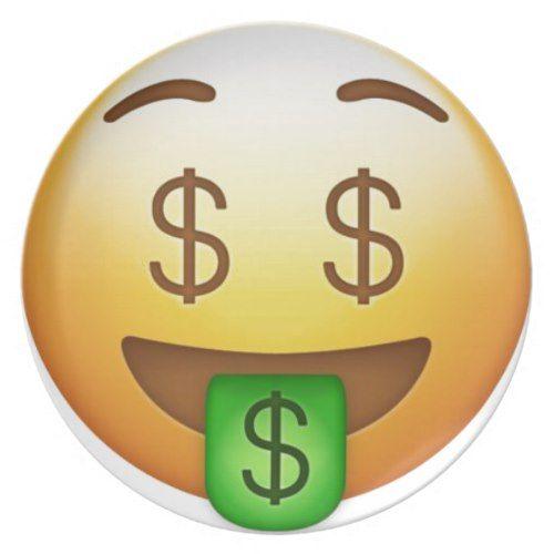 Sassy Emoji With Crown And Money