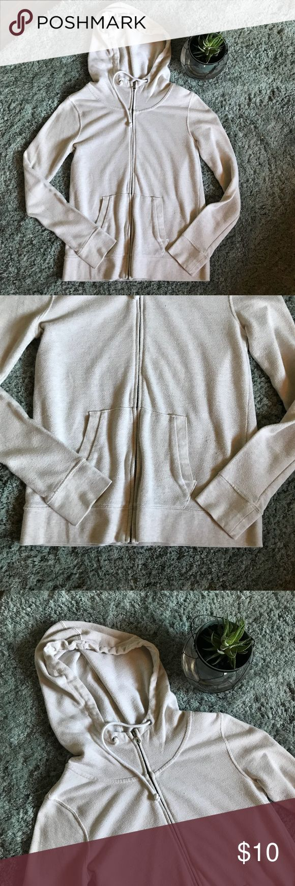 Volcom Cream Zip Up Hoodie XS In good preowned condition. Some pulling but nothing major is wrong with it. Love this hoodie but I have gotten into lululemon hoodies so just making room for those. Volcom Tops Sweatshirts & Hoodies