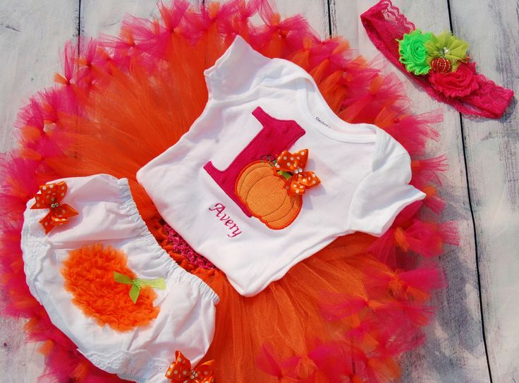 Pumpkin tutu Baby Pumpkin Birthday Baby Fall Birthday by SewsnBows, $58.00