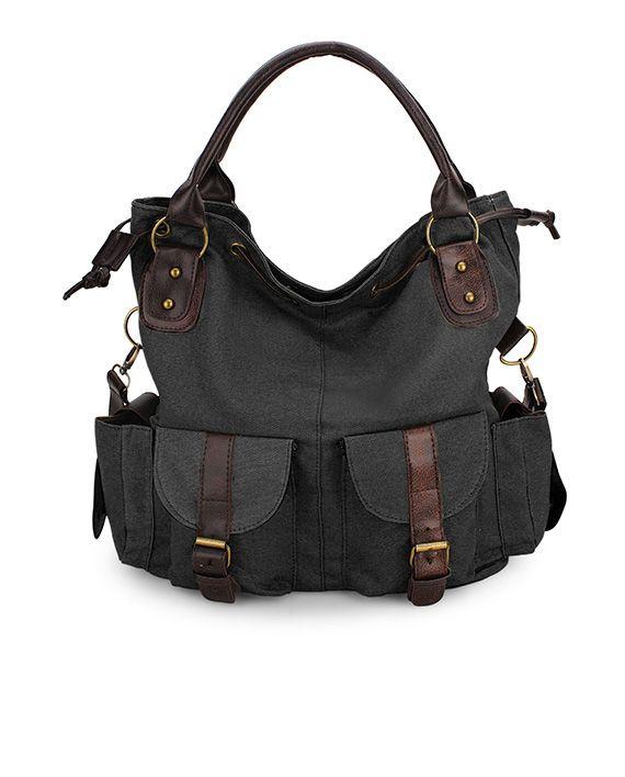Håndbag og skulderbag av canvas i flere farger | Moody.no