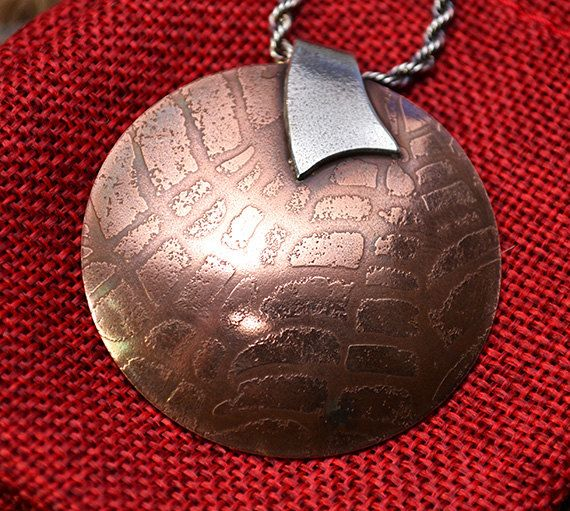 Etched Copper Pendant by SaSousaDesigns on Etsy