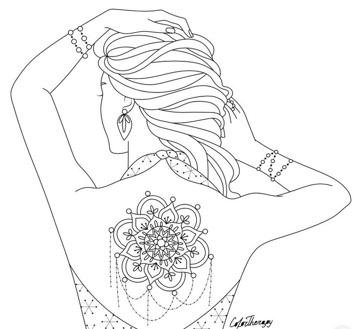 Coloring pages for adults app ~ 97 best Body Art Tattoo Coloring Pages for Adults images ...