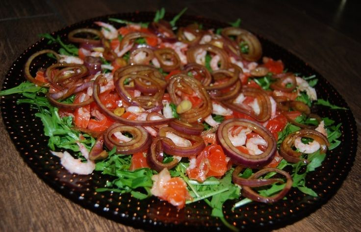 Рукола с морепродуктами