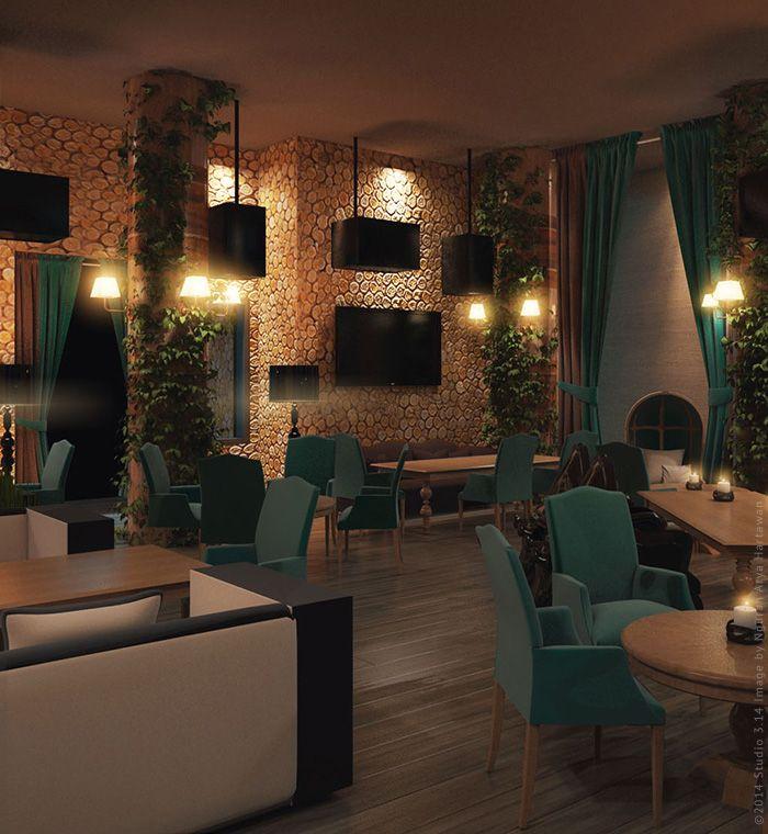 Дизайн-проект интерьера караоке-бара в Москве