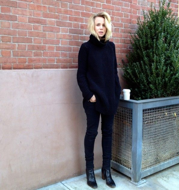 Elin Kling - oversized slouchy black jumper, knitwear, sweater