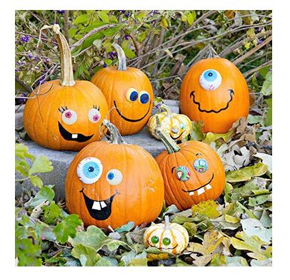painted pumpkin faces google search funny