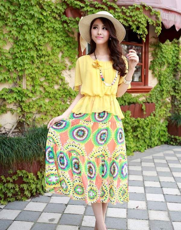 NY® 混合色 シフォン 定番人気 レディース ワンピース 全4カラー ひらっと揺れる、裾がシフォンで涼しげな印象のスカート!ひらひらする薄くて軽いシフォン素材で夏にも涼しく楽しめ。見た目に可愛くきれいめカジュアルにオススメ。 http://www.cithy.jp/ny-mixing-color-chiffon-women-one-piece-dress-4color-w09520755a.html