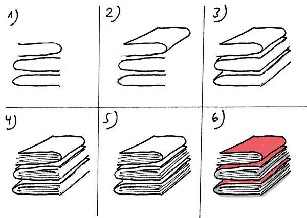 Aktenstapel zeichnen