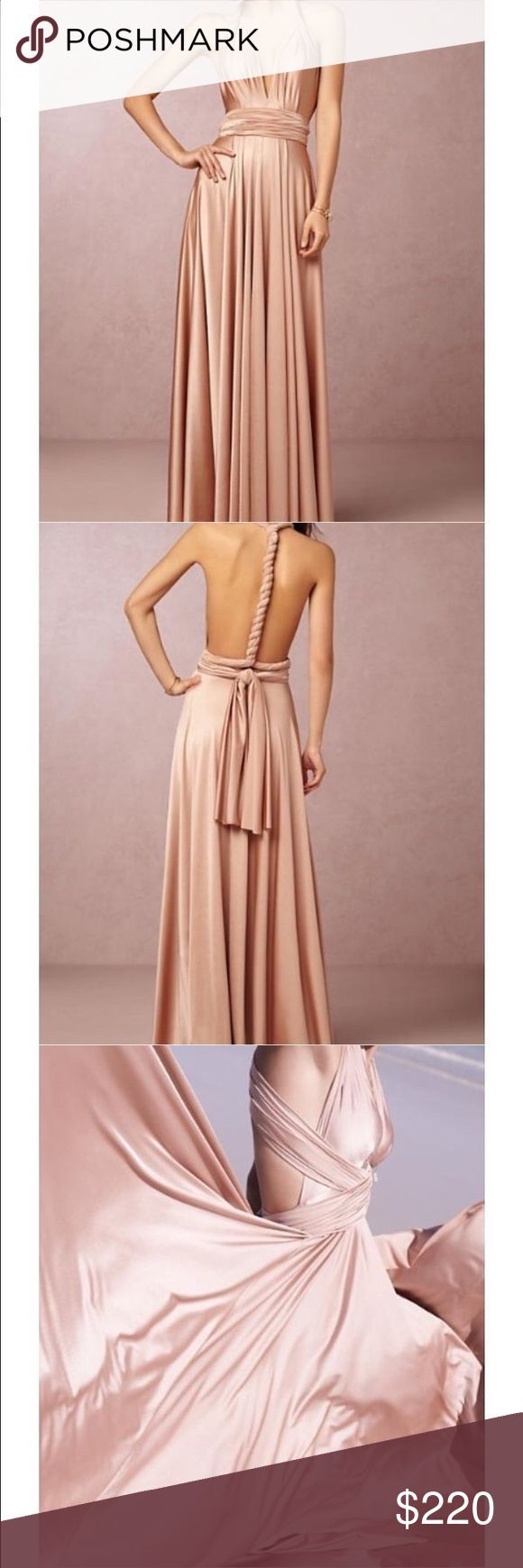 Bhldn Rose gold wrap dress Rose gold wrap dress. Wore once as a bridesmaid. Dry cleaned and no alterations. Bhldn Dresses Wedding Women, Men and Kids Outfit Ideas on our website at 7ootd.com #ootd #7ootd