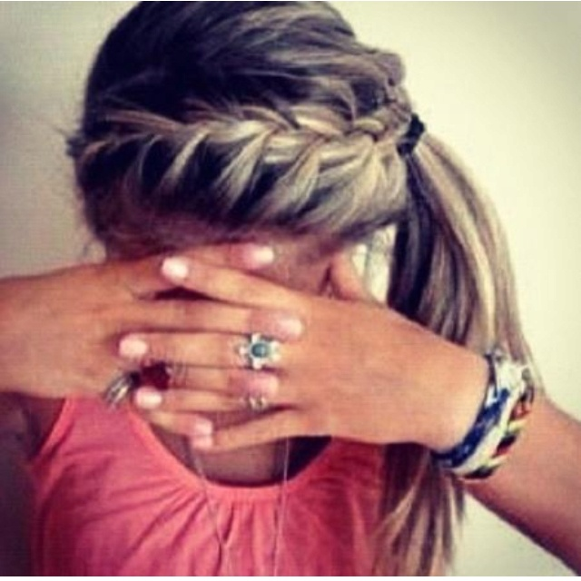 Cute Braid: French Braids, Side Ponies, Summer Hair, Cute Hair, Hair Style, Side Ponytail, Cute Braids, Hair Color, Ponies Tail