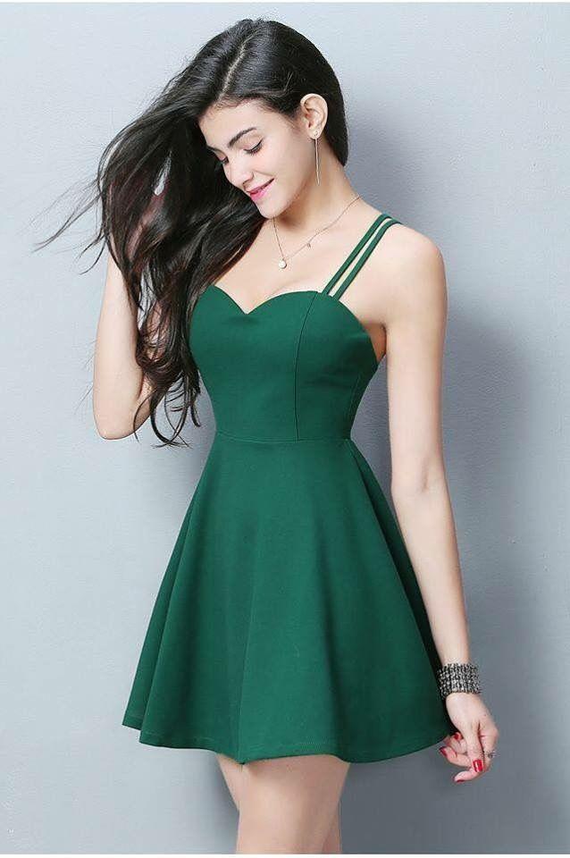 Pin De Aline En Vestidos En 2019 Vestido Verde