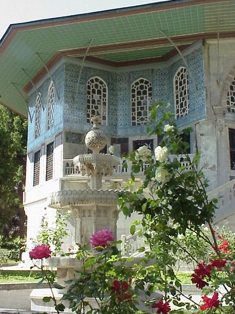 Garden. Topkapi Palace. House of Sultans and their families.  Istabul, TURKEY.