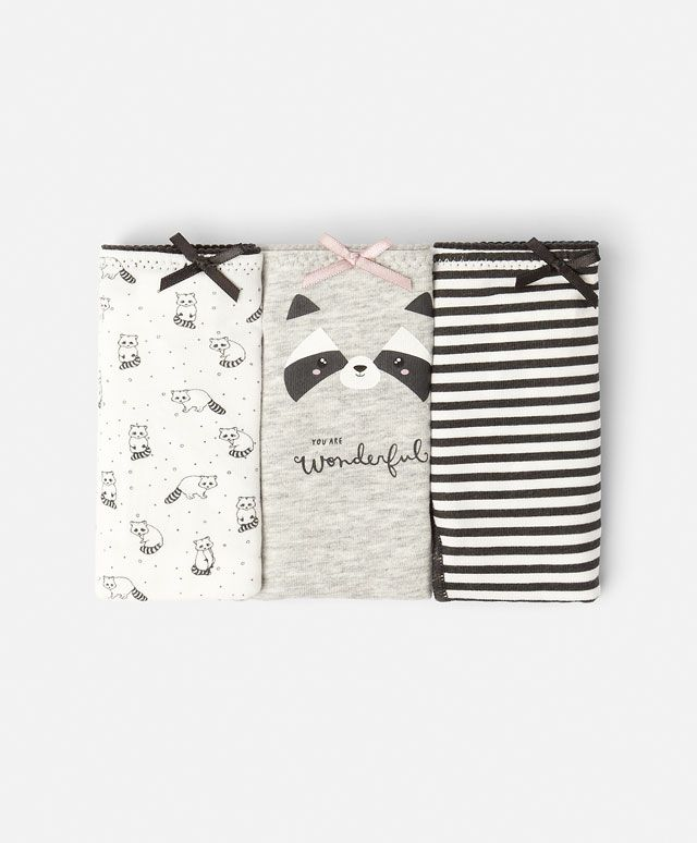 Pack of raccoon print Brazilian briefs - OYSHO