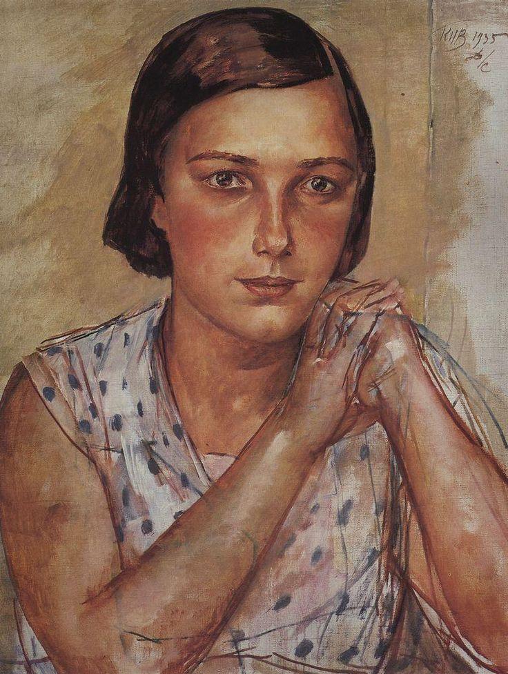 Portrait of the artist's daughter  - Kuzma Petrov-Vodkin