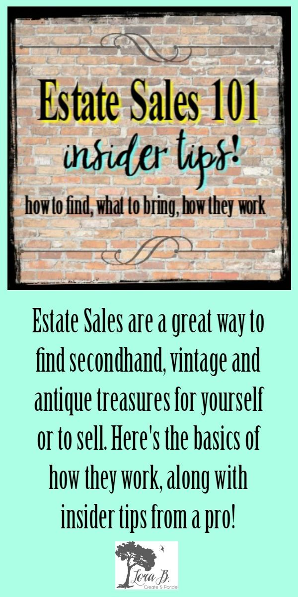 Secondhand and vintage finds are plentiful at estate sales
