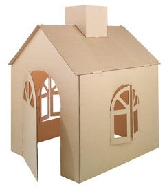 "This is a beautiful ""cardboard house"" from Chasing Fireflies....but comes with a Big Price Tag. I think I will just make my own from some cardboard boxes...but if I had extra money to throw around I would definitely consider this for our Gingerbread Mouse House."