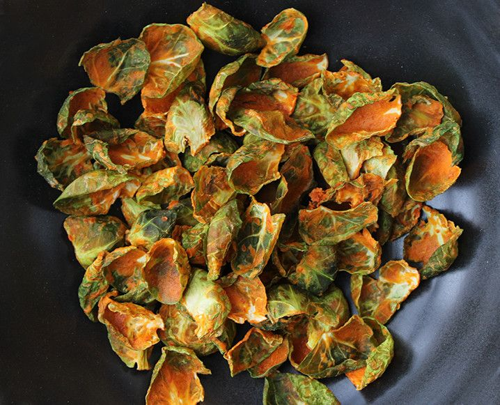 We love a good kale chip, but there's a new crucifer in our dehydrator. Get the recipe for our umami Brussels sprout chips...