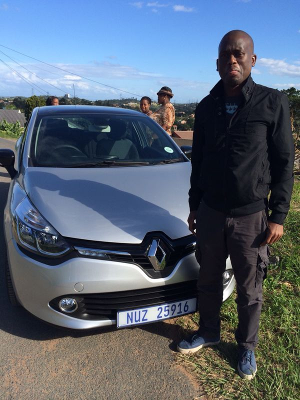 Congratulations Thabani Khumalo on your brand new Renault Clio Dynamique.   Safe journey :)