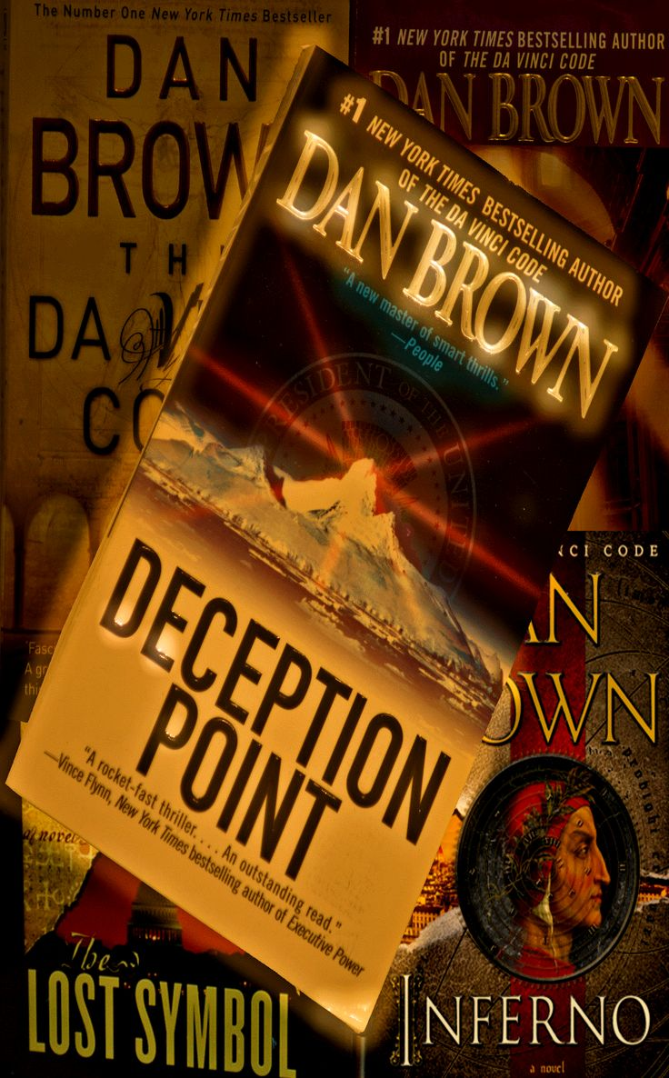 """""""Deception Point"""" by Dan Brown. Where's Robert Langdon? No matter, you still see Dan Brown. And now you see my Dan Brown collection."""