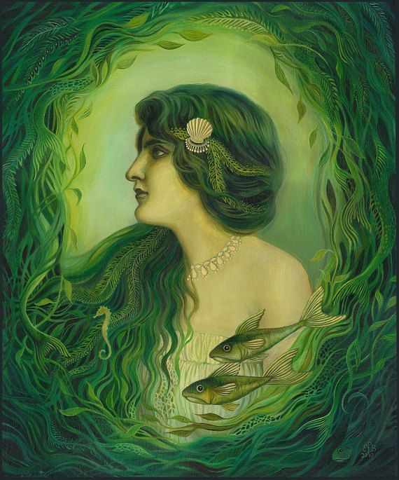 In Greek mythology, the Nereids are sea nymphs who accompany Poseidon and can be friendly and helpful to sailors fighting perilous storms.