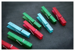 having fun with Rit Dye... clothespins
