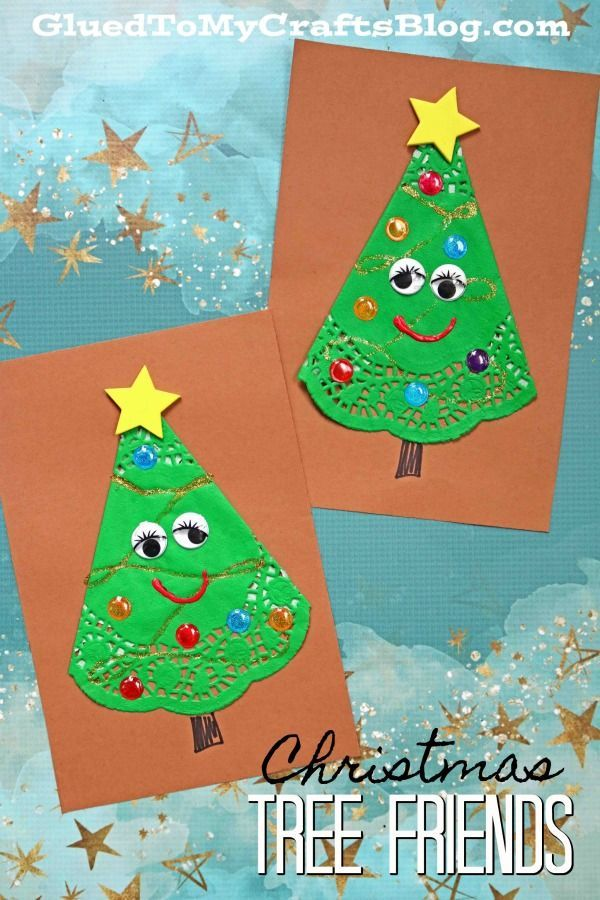 Paper Doily Christmas Tree Friends Paper Art Craft Christmas Tree Paper Craft Preschool Christmas Crafts Xmas Crafts