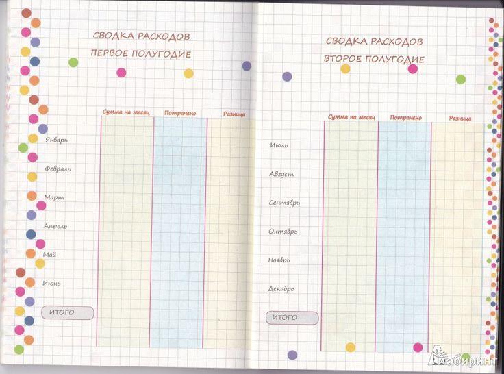 Иллюстрация 7 из 13 для Книга для записи домашних расходов на год | Лабиринт - канцтовы. Источник: Nadinka&
