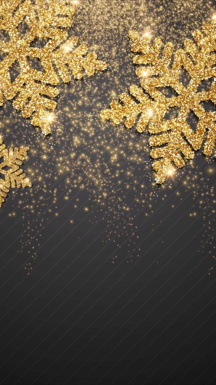 Schwarzes Und Goldschneeflockenschneewinter Weihnachtsschneeflocke Weihnachtsschneeflocke Goldschneefloc Xmas Wallpaper Christmas Wallpaper Holiday Wallpaper
