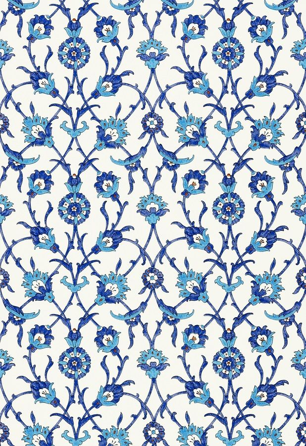 Sultan's Trellis Wallpaper - MLB for Schumacher Martyn Lawrence Bullard Inc.