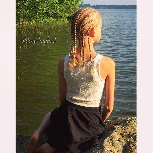 Happy Midsummer ☀️! #cornrows are perfect for a day by the lake ❤️ . . #braid #pikkuletit #braiding #braidinghair #braidideas #instabraids #letti #letit #lettikampaus #letitys #hairdo #hairdos #hairstyles #flette #suomiletit #braidsforgirls #featuremeisijatytot #hotbraidsmara #braidsforlittlegirls #braidingchallenge #featureaccount_ #braidinginspiration #perfecthairpics #inspirationalbraids #cghphotofeature