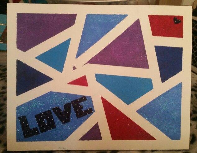 Recreation of pinterest idea, canvas art