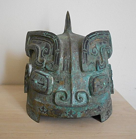 Western Zhou Dynasty Warrior Bronze Helmet by OldVarieties, $6999.00