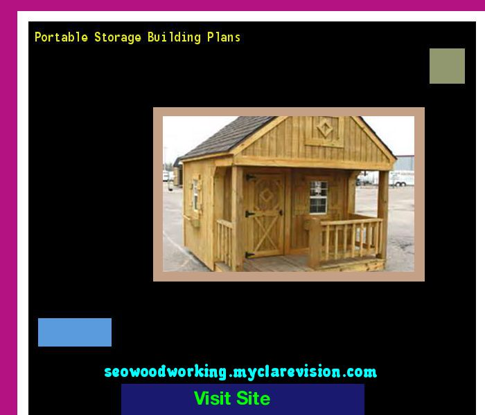 Portable Storage Building Plans 201037 - Woodworking Plans and Projects!