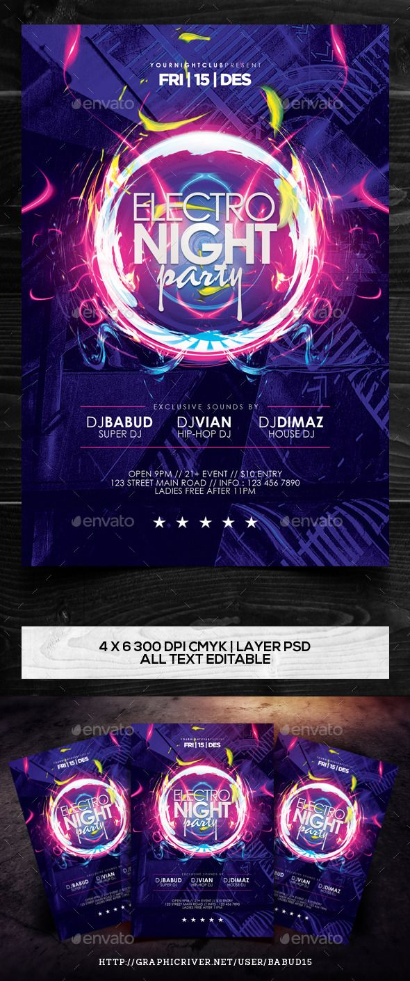 best ideas about event flyers flyer design electro night party flyer template vol 2