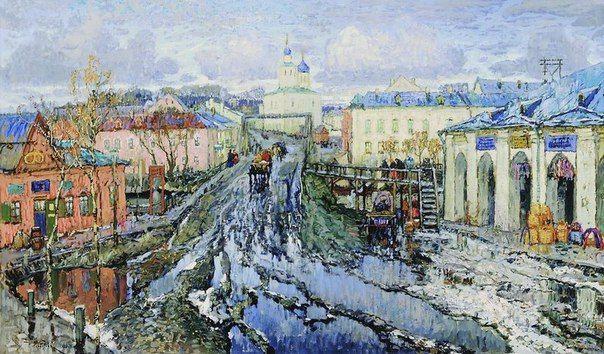К. И. Горбатов. Улица провинциального города 1920