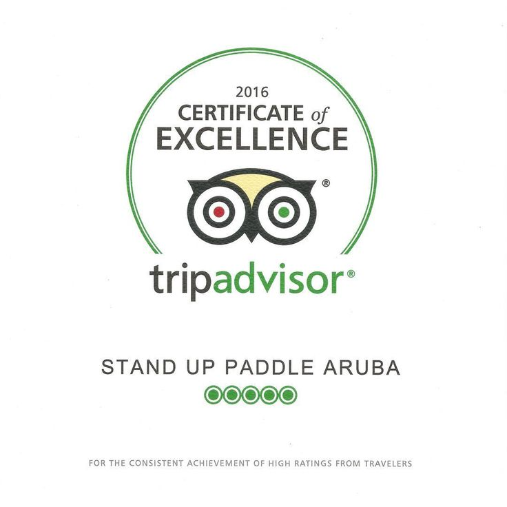 Stand Up Paddle Aruba is the proud recipient of the TripAdvisor Certificate Of Excellence for the 3rd year in a row!     www.suparuba.com