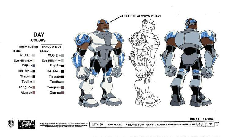 Comic Book Character Design Sheet : Teen titans cyborg character sheet go