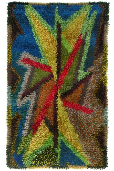 Hand-Knotted Colourful Rya via SCANDINAVIAN MODERNISTS. Click on the image to see more!