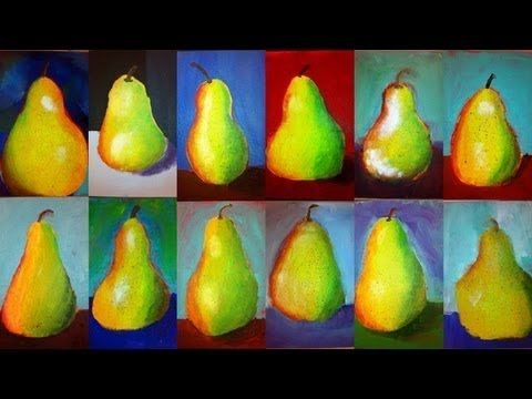 Pear Painting Tutorial for Kids and Beginners - Free Acrylic Painting Lesson (HD Version) - YouTube
