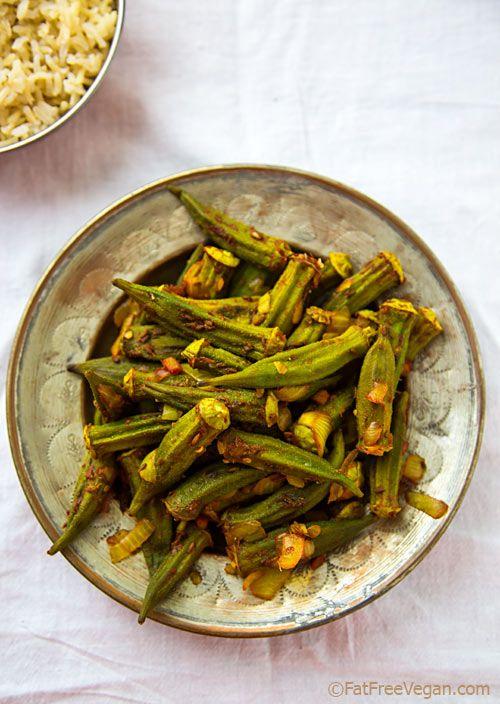 Roasted Okra Masala - You haven't had okra until you've had it roasted with Indian seasonings! #vegan
