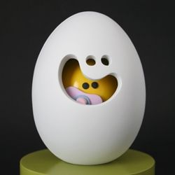 Egg Head & Baby Yolkel. New work from toy designer Jason Freeny.
